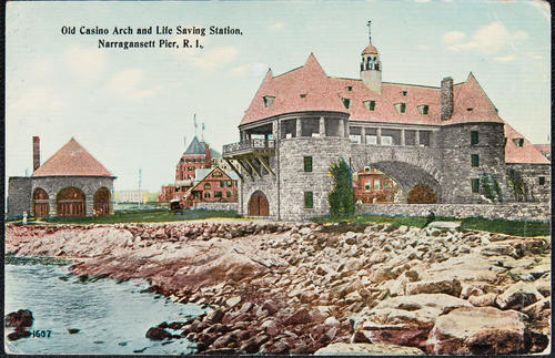 Old Casino Arch and Life Saving Station, Narragansett Pier, R.I.