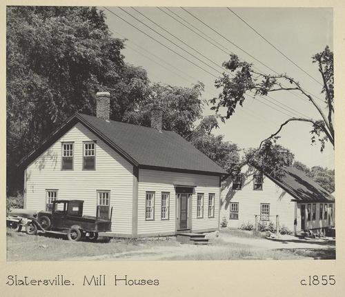Slatersville. Mill Houses c. 1855 Box 2 Box 2
