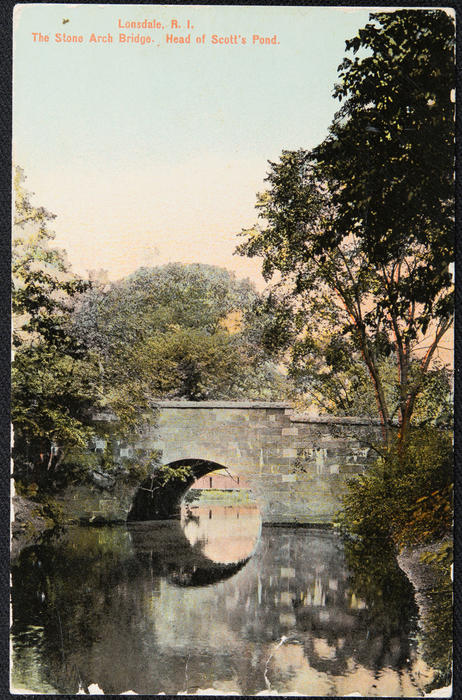Lonsdale, R.I. The Stone Arch Bridge, Head of Scott's Pond