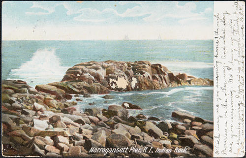 Narragansett Pier, R.I. Indian Rock.
