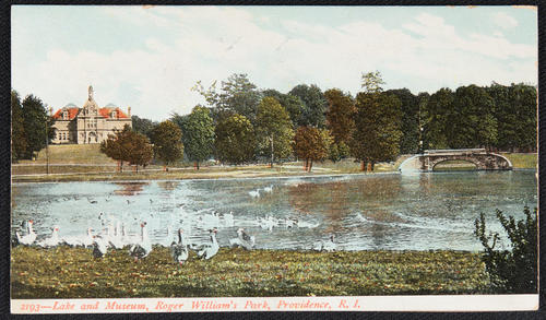 Lake and Museum, Roger William's Park, Providence, R.I.