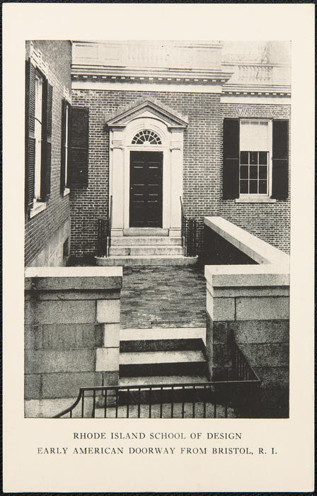 Rhode Island School of Design. Early American doorway from Bristol, R.I.