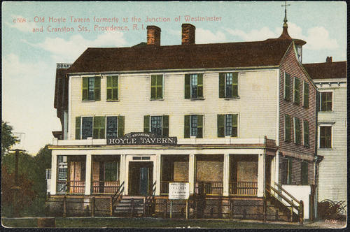 Old Hoyle Tavern formerly at the junction of Westminster and Cranston Sts., Providence, R.I.