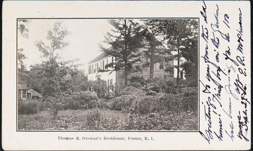 Thomas R. Drowne's Residence, Foster, R.I.