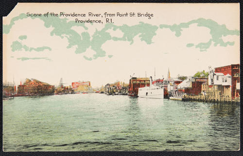 Scene of the Providence River from Point St. Bridge, Providence, R.I.