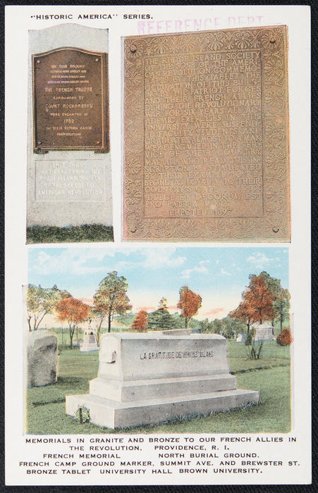 Memorials in granite and bronze to our French allies in the Revolution, Providence, R.I.