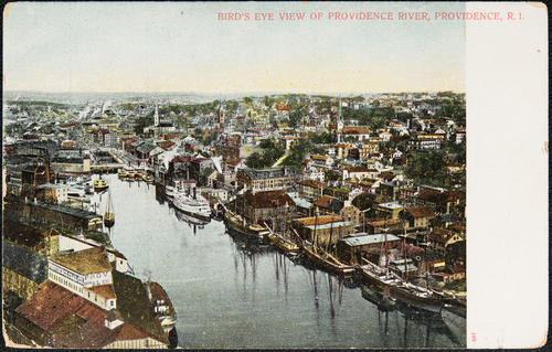Bird's eye view of Providence River, Providence, R.I.
