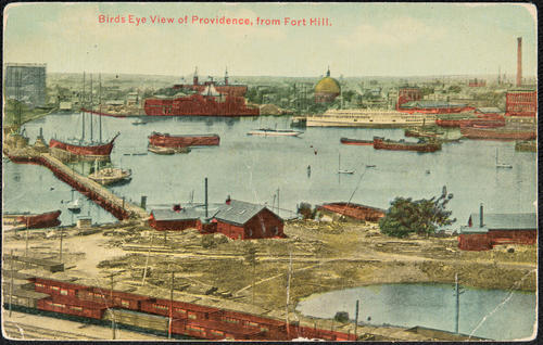 Bird's Eye View of Providence from Fort Hill