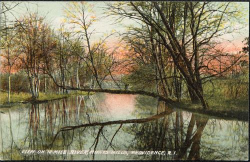 View on 10 Mile River, Hunts Mills, Providence, R.I.