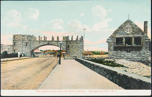 Old Casino Ruins and Life Saving Station. Narragansett Pier, R.I.