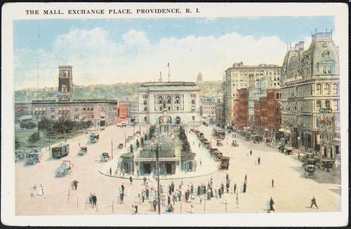 The Mall.  Exchange Place. Providence, R.I.