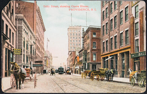 Eddy Street showing Opera House, Providence, R.I.