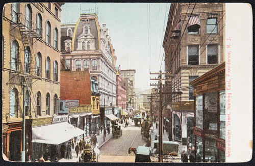 Westminster Street, looking East, Providence, R.I.
