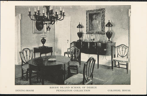 Rhode Island School of Design, dining room, Pendleton Collection, Colonial House