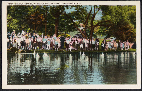 Miniature boat racing at Roger Williams Park, Providence, R.I.