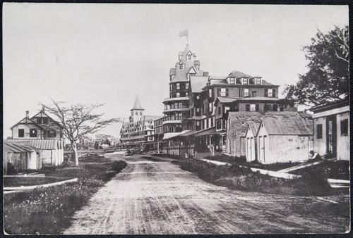 """Looking south on Conanicus Avenue-late 1800's"""