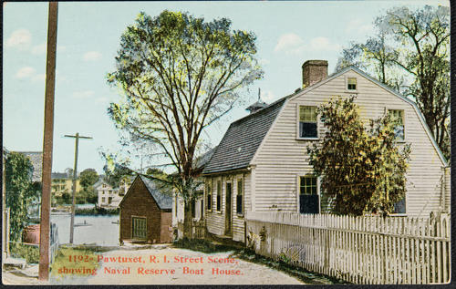 Pawtuxet, R.I. Street scene, showing Naval Reserve Boat House
