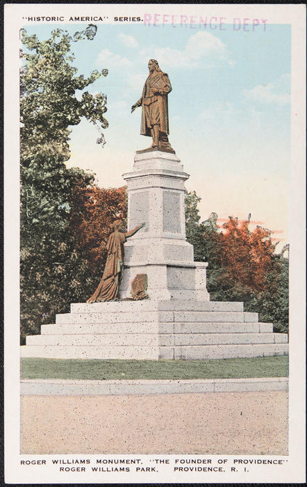 "Roger Williams Monument, ""The Founder of Providence"" Roger Williams Park, Providence, R.I."