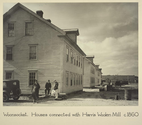 Woonsocket. Houses connected with Harris Woolen Mill c. 1860