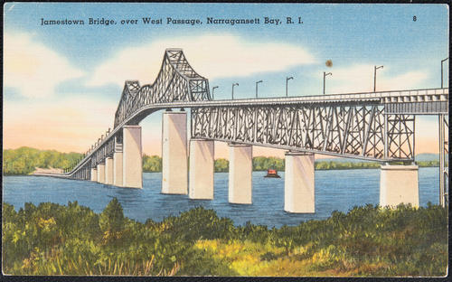 Jametown Bridge, over West Passage, Narragansett Bay, R.I.