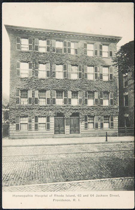 Homeopathic Hospital of Rhode Island, 62 and 64 Jackson Street, Providence, R.I.
