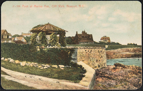 Foot of Marine Ave, Cliff Walk, Newport, R.I.