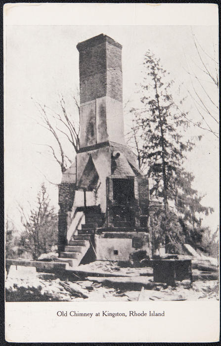 Old Chimney at Kingston, Rhode Island