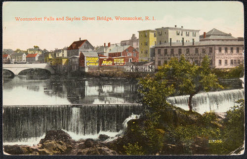 Woonsocket Falls and Sayles Street Bridge, Woonsocket, R.I.