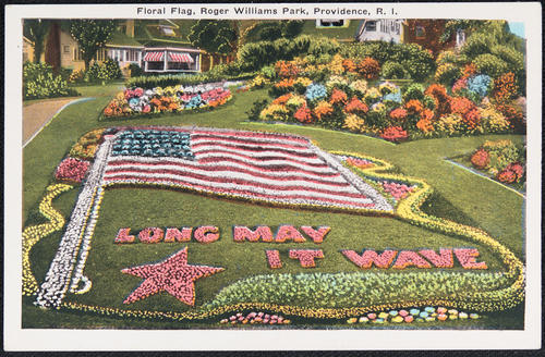 Floral Flag, Roger Williams Park, Providence, R.I.