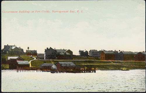 Government buildings at Fort Greble, Narragansett Bay, R.I.