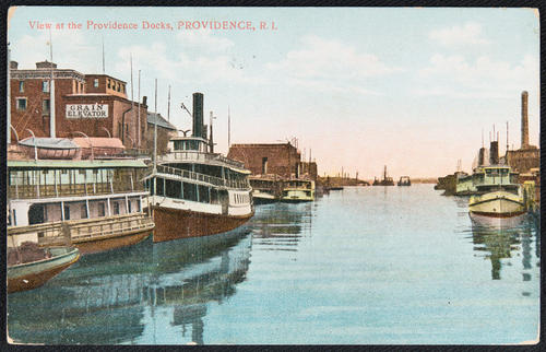 View of the Providence docks, Providence, R.I.