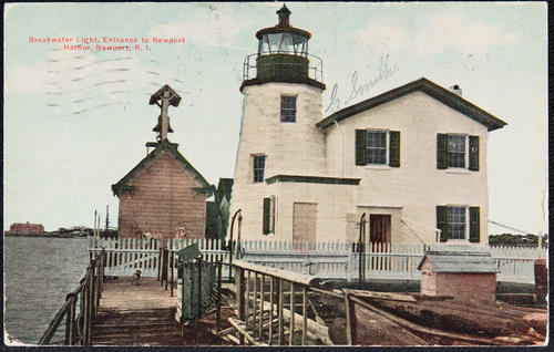 Breakwater Light, entrance to Newport Harbor, Newport, R.I.