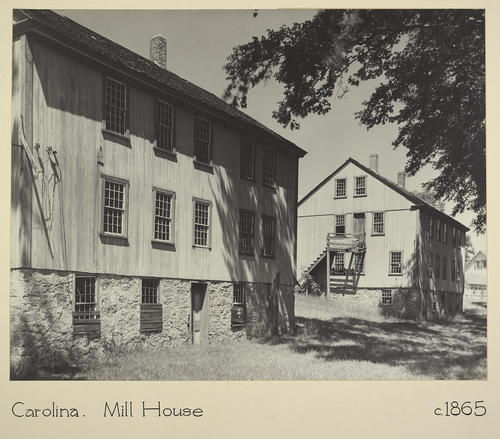 Carolina. Mill House c. 1865