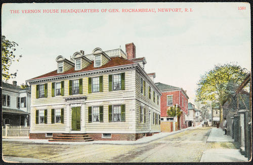 The Vernon House headquarters of Gen. Rochambeau, Newport, R.I.