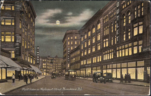 Night scene on Weybosset Street, Providence, R.I.