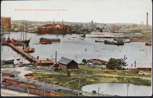 Bird's Eye View of Providence, from Fort Hill