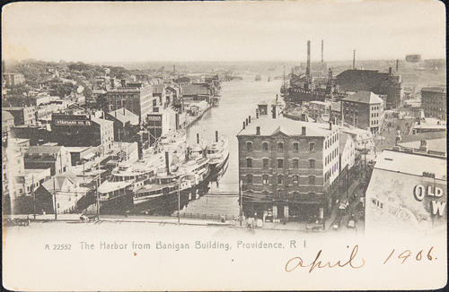 The Harbor from Banigan Building, Providence, R.I.