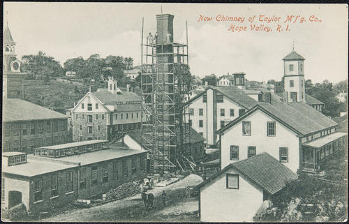 New chimney of Taylor M'f'g. Co., Hope Valley, R.I.