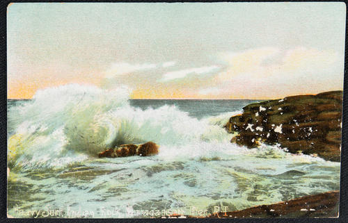 Heavy Surf.  Indian Rock. Narragansett Pier, R.I.