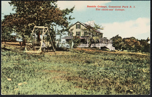 Seaside cottage, Conanicut Park, R.I. The Children's Cottage.