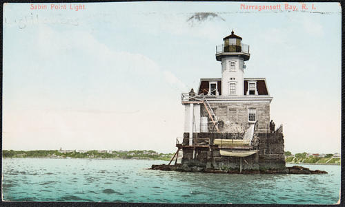 Sabin Point Light. Narragansett Bay, R.I.
