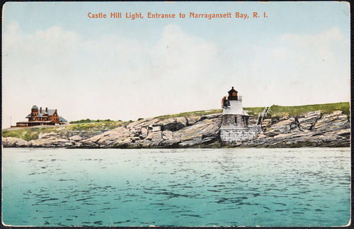 Castle Hill Light, entrance to Narragansett Bay, R.I.