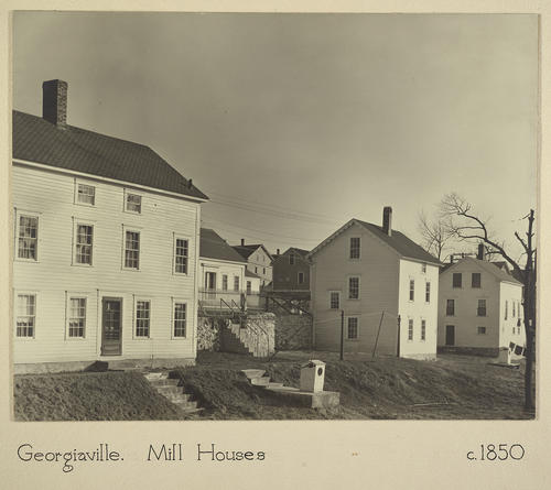 Georgiaville. Mill Houses c. 1850