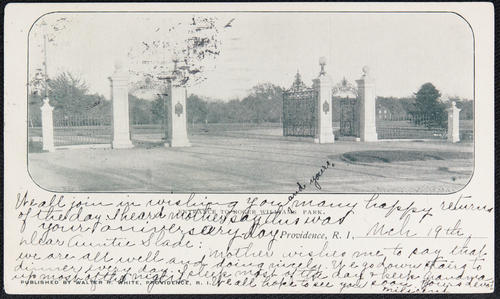 Entrance to Roger Williams Park, Providence, R.I.