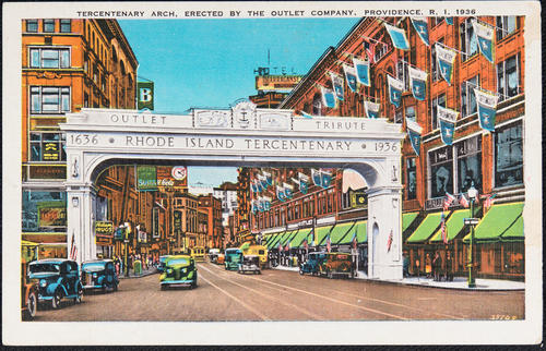 Tricentenary Arch, erected by the Outlet Company, Providence, R.I., 1936