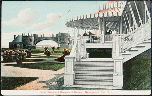Band Stand and Grounds of Casino.  Narragansett Pier, R.I.