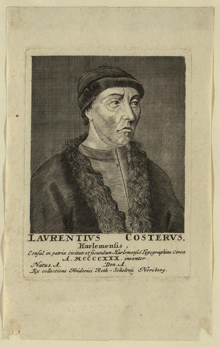 Portrait of Lourens Janszoon Coster