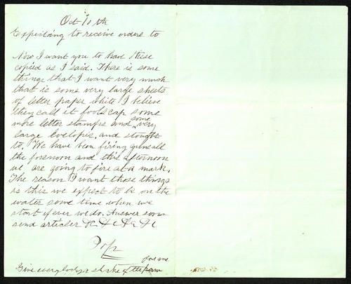 Letter from George Turner, no correspondent listed