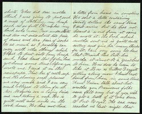 Letter from George Turner to his Aunt Susan Buffington, 11 Jul 1862