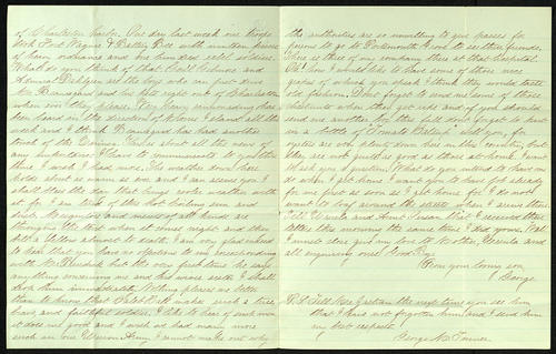 Letter from George Turner to his Father, 11 Sep 1863